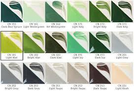 Thorough Kelp Color Chart 2019