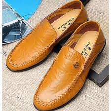 Mens Light Soles Nappa Leather Cowhide Spring Fall