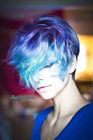 Hairstyles Blue Short Hairstyles The Newest Short Colored Hair