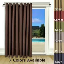 furniture nice patio curtain panel 1 ricardo ultimate blackout insulated patio door curtain panels