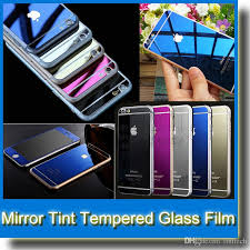 mirror tint screen protector tempered glass color mirror real tempered glass screen protector for iphone 6 plus 5 5s front back best tempered glass