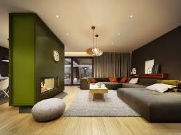 ... Brown and olive green living room studio walls burnt orange living room  accessories photos hgtv orange ...