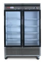 3 door commercial reach in glass front