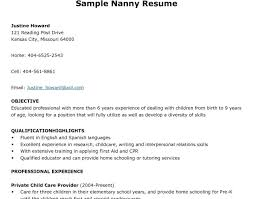 Nanny Resume Sample - Costumepartyrun