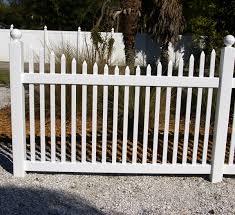 Scalloped vinyl picket fence Fence Panel Nationwide Vinyl Fencing Malibuvinylpicketfencescallopedtop