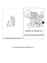 Biglietto Di Auguri Da Colorare Disney E Cartoni Animati Biglietti