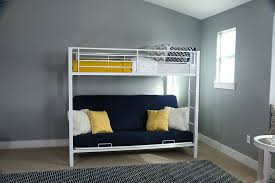 couch that turns into a bunk bed amazon. Unique Into Amazoncom Sturdy Metal TwinoverFuton Bunk Bed In White Finish Kitchen  U0026 Dining On Couch That Turns Into A Amazon E