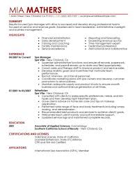 What A Resume Should Look Like Manager Salon Spa Fitness Contemporary What Resume Should Look 15