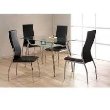 heartlands lazio glass small dining table set 4 glass top dining table set 4 chairs