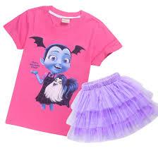 Us 16 9 Junior Vampirina Tops Tutu Skirt 2pcs Clothing Set Summer Princess Dress Girls Cosplay Costume Birthday Party Clothes In Clothing Sets