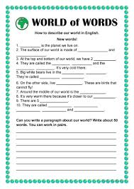 Vocab Building Worksheets World Of Words Vocabulary Building English Esl Worksheets