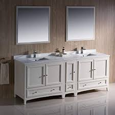 Traditional double sink bathroom vanities 72 Inch Image Unavailable Image Not Available For Color Fresca Oxford 84quot Antique White Traditional Double Sink Bathroom Vanity Amazoncom Fresca Oxford 84