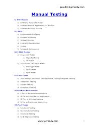 gcreddygcreddycom manual testingi introduction a software types of software  - Manual Testing Resume