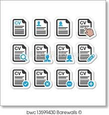 Resume Icons Magnificent Art Print Of CV Curriculum Vitae Resume Icons Barewalls Posters