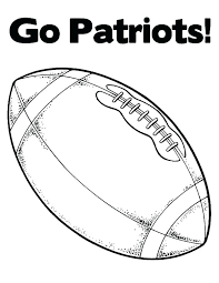 football coloring page printable pages go free patriots