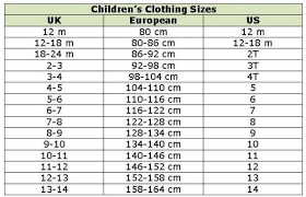 Baby Clothes Size Chart European Pin By Lorna Adera On Size Chart For Kids Baby Clothes