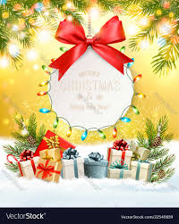Gift Cards For Christmas Holiday Christmas Background With A Gift Card And