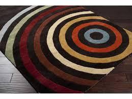 brown area rug with circles surya forum square dark brown burnt orange u0026 tan area