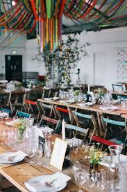 Event Decor London Diy Wedding In London Warehouse Venue With Ribbon Decor