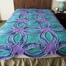Best 25+ Crochet quilt pattern ideas on Pinterest | Crochet quilt ... & Wedding Ring Crochet Quilt Adamdwight.com