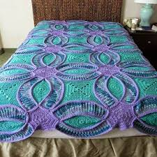 Best 25+ Crochet quilt pattern ideas on Pinterest | Crochet quilt ... & Wedding Ring Crochet Quilt ~ free pattern ᛡ Adamdwight.com