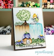 Color A Waterfall With Copic Markers