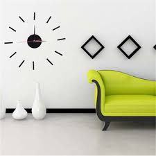 3d mirror diy acrylic sticker wall clock modern style art home room decoration