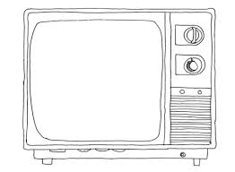 tv coloring pages.  Pages Old Sytle Tv Coloring Page And Coloring Pages R