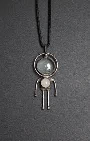 alien necklace paranormal jewelry ufo gifts robot pendant i
