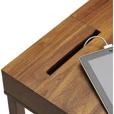 office desk cable hole. myreneu0027s desk grommet option leather trim storage in office furniture cb2 cable hole a