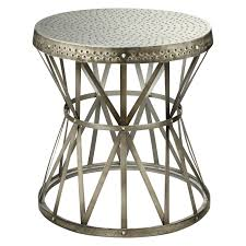 coast to coast  round metal end table  hayneedle