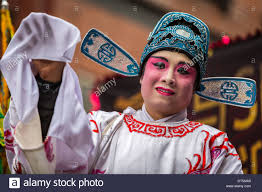 chinese man wearing makeup parades at the lunar new year festival in stock photo 66508568 alamy