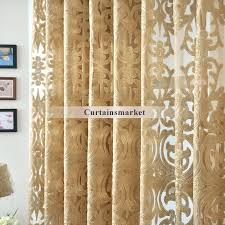 gorgeous gold sheer curtains and beautiful yarn patterned semi dark gold sheer curtains
