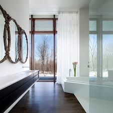 a house in the woods modern bathroom