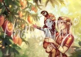 Radha krishna art ...