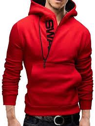 <b>IZZUMI</b> Pocket Front Long Sleeve Side Half-Zip Up Hoodie - | <b>Mens</b> ...