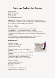 Prepress Technician Resume Sample Http Www Resumecareer Info