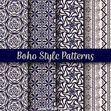 Beautiful Patterns Interesting Variety Of Boho Patterns With Beautiful Designs Vector Free Download