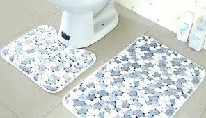 target round bath rug mat bathroom fluffy rugs piece sets navy furniture amusing set blue black