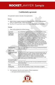 Business Separation Agreement Template Cool Free NDA Non Disclosure And Confidentiality Agreement