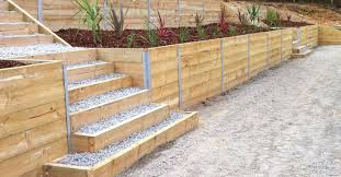 concrete sleeper and retaining wall