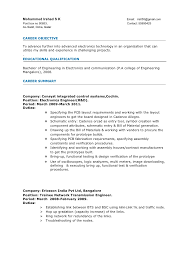 Experienced Engineer Resume
