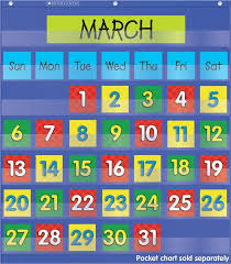 Date Chart For Classroom Scholastic Calendar Dates Pocket Chart Add Ons 2 Colored