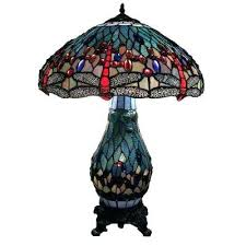 stained glass light table warehouse of lamps lighting the home depot dragonfly in antique brass lamp
