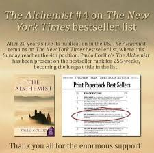 paulo coelho keithpp s blog page  the alchemist new york times best seller