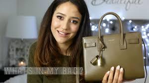 Whats In My Bag? | <b>Saint Laurent Baby</b> Sac De Jour - YouTube