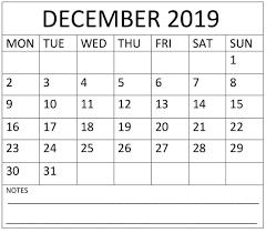 Week Number Calendar December 2019 Calendar With Week Numbers Free Latest