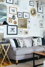 home office dark blue gallery wall. Cofounders\u0027 Chicago Home And Office Tour. Living Room WallsGallery Dark Blue Gallery Wall O