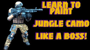 miniature painting tutorial jungle camouflage for warhammer 40k