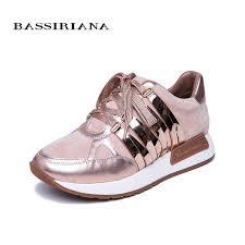 <b>BASSIRIANA 2019</b> Spring New Women Flats Genuine Leather ...